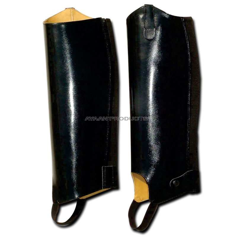 Leather Half Chaps Black