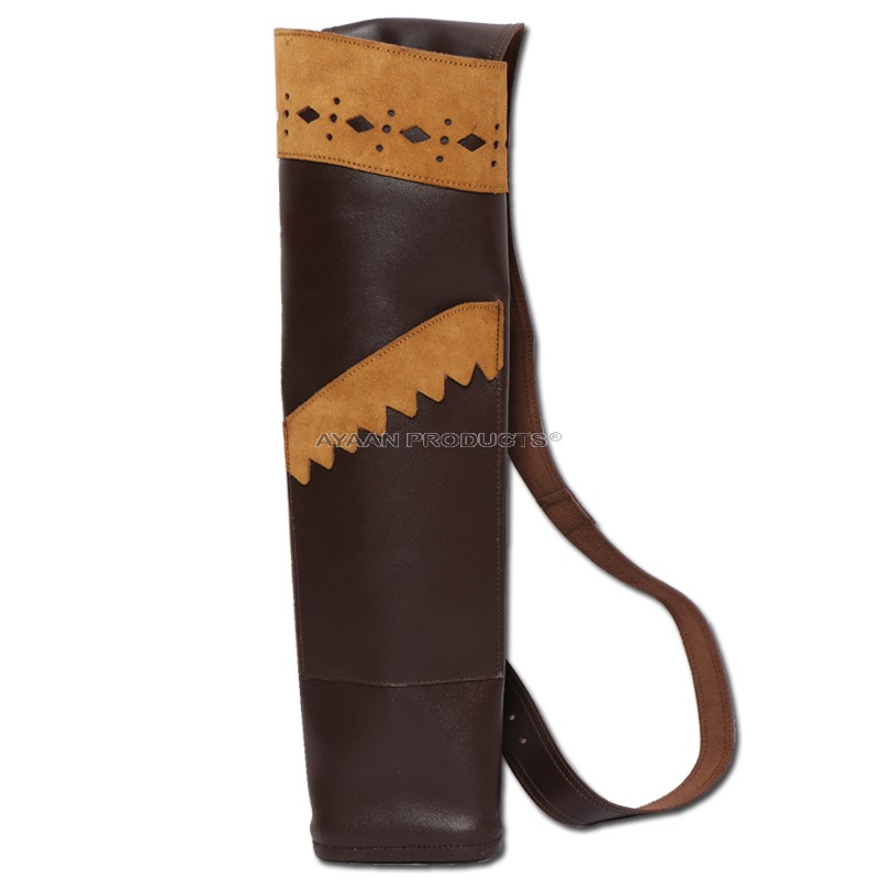 Brown Leather Arrow Quiver