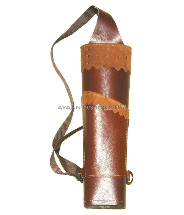 Leather Back Arrow Quiver