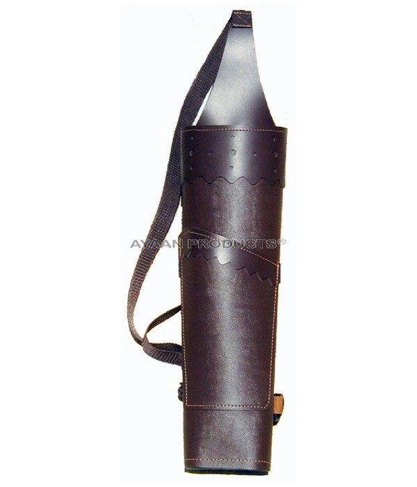 Rattler Leather Back Quiver