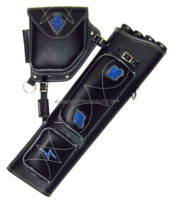 Archery Traditional Side Leather Quiver