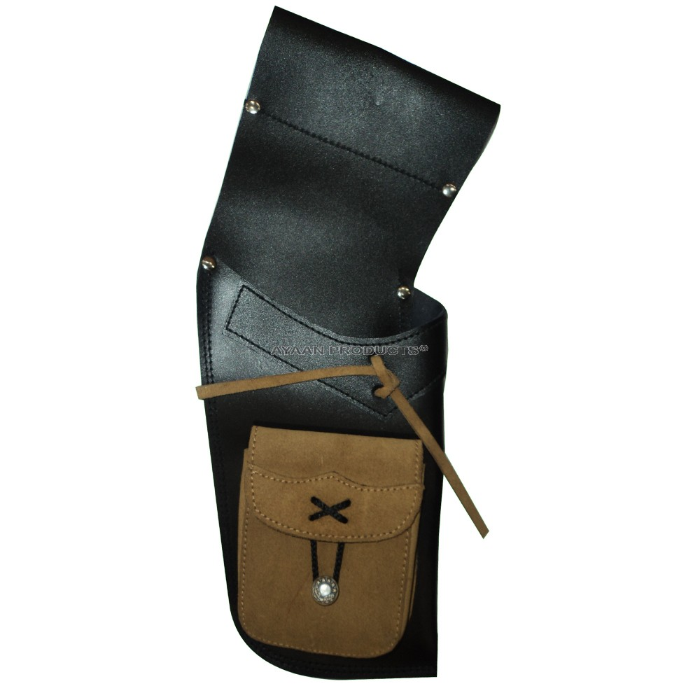 Black Target Leather Side Quiver