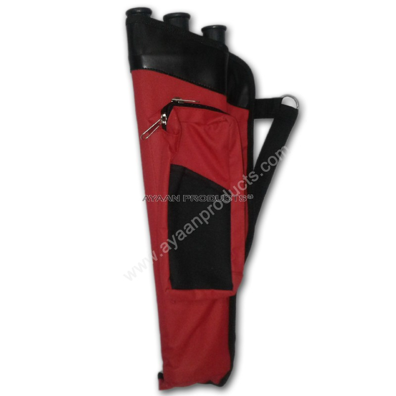 Red Black 3 Tube Hip Quiver