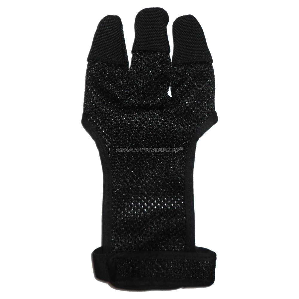 Black Archery Shooting Gloves