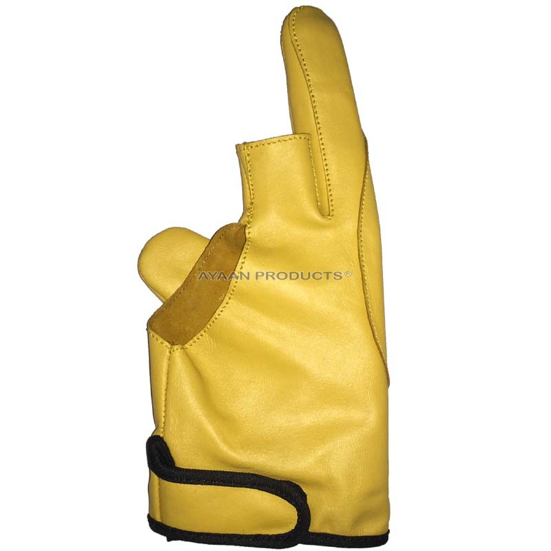 2 Finger Leather Archery Gloves