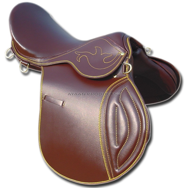 Jumping Horse Saddle Brown