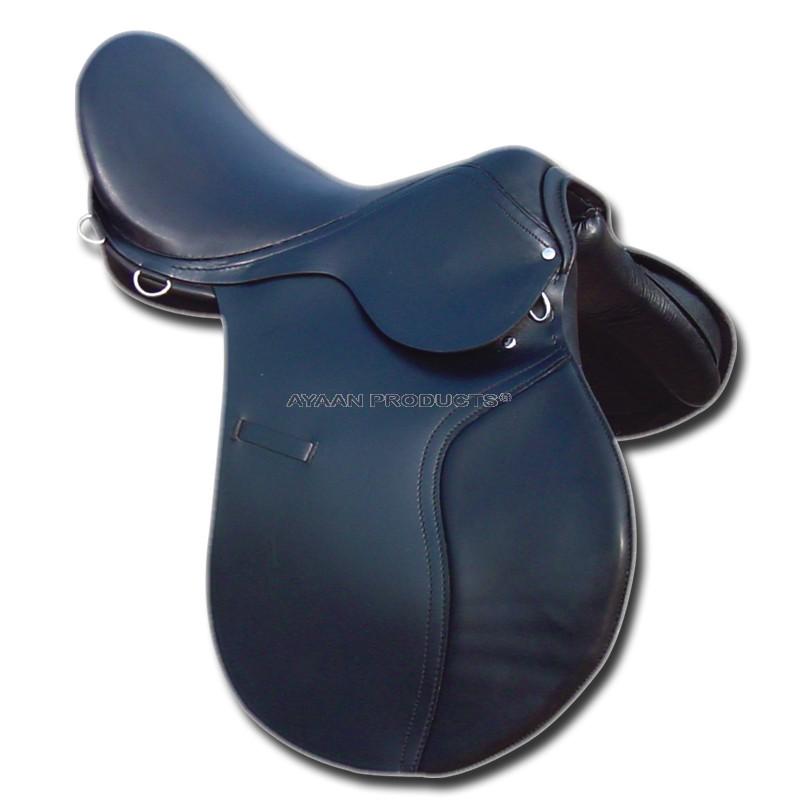 Leather Jumping Saddle Black