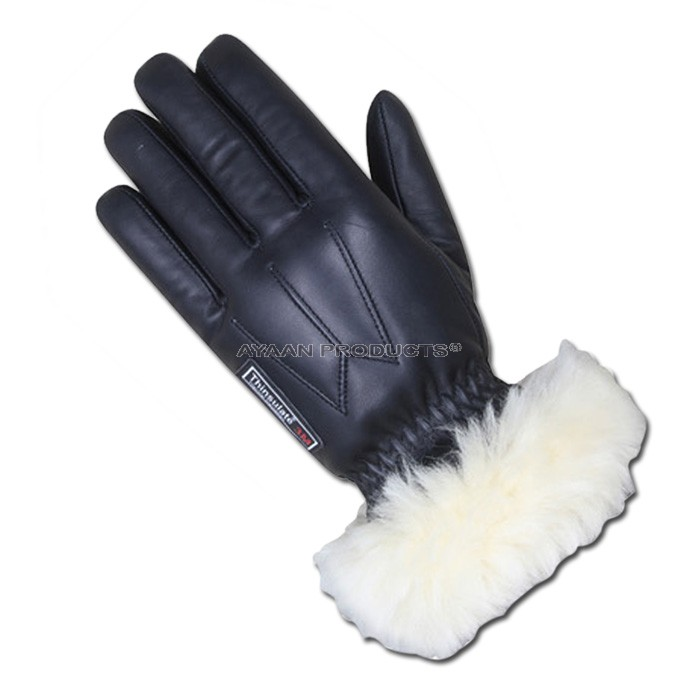 Sheepskin Fur Leather Gloves