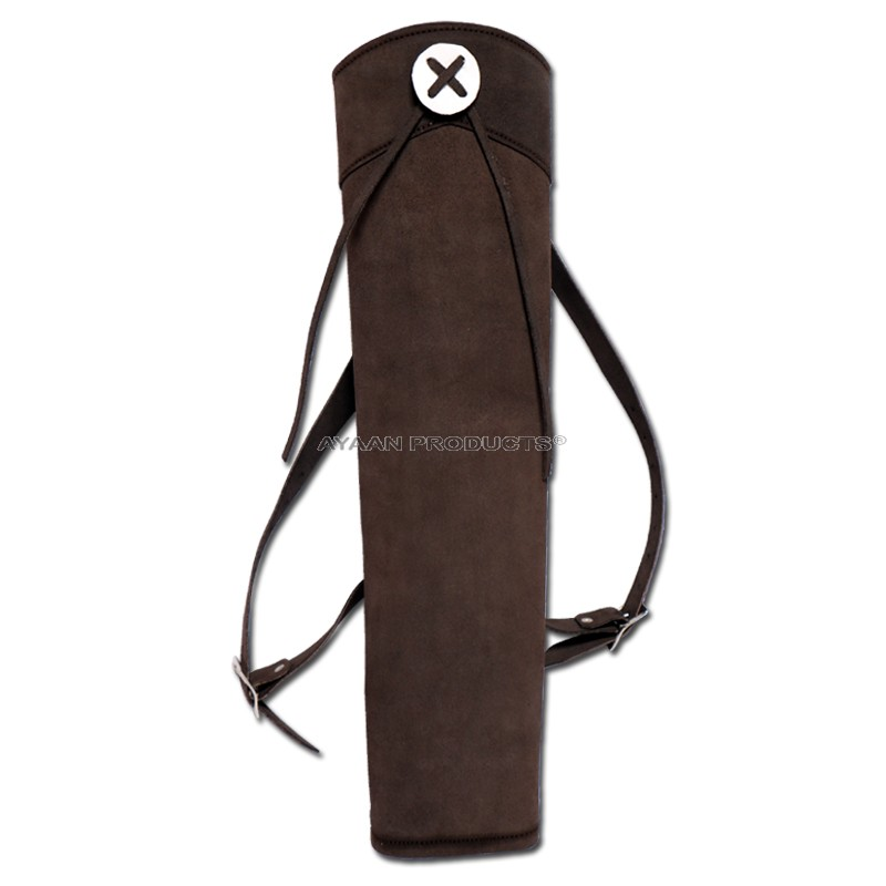 Brown Leather Back Quiver
