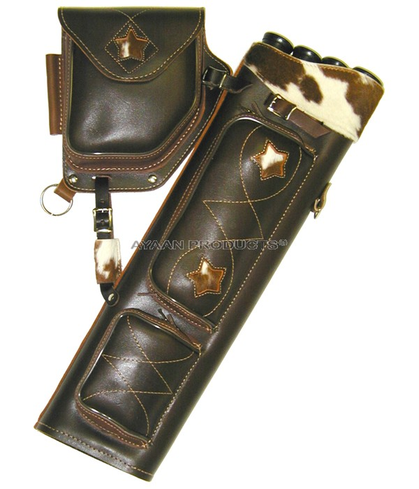 Archery Brown Leather Side Quivers