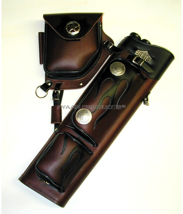 Brown Leather Side Quivers