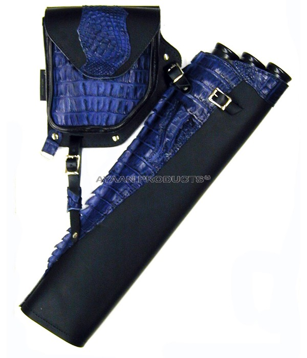 Blue Side Leather Quiver