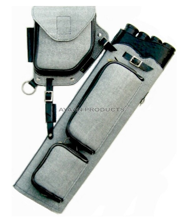 Archery Gray Side Leather Quiver