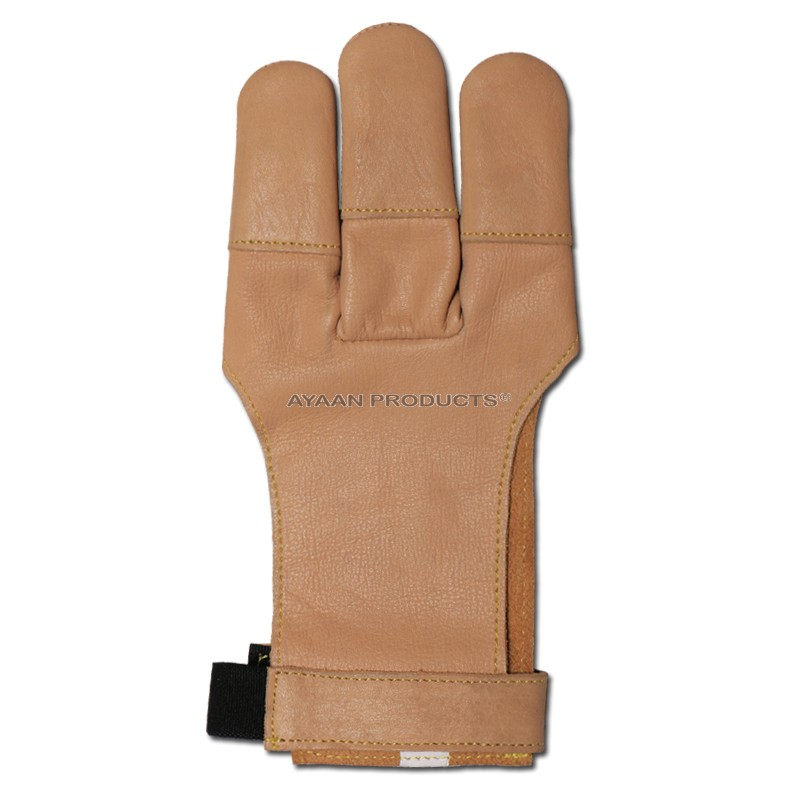 3 Finger Traditional Shooting Gloves