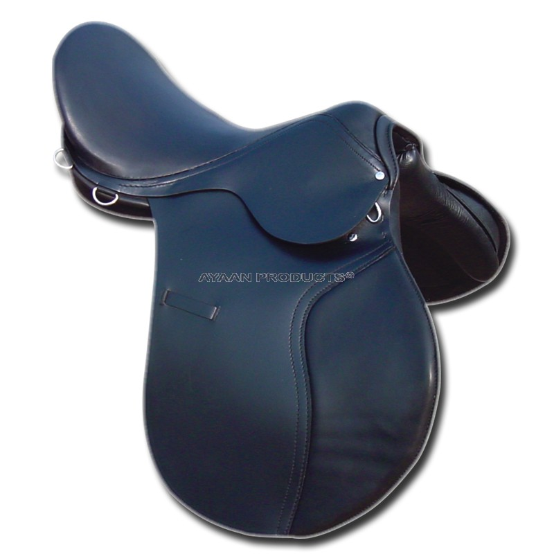 Leather Jumping Saddle Black