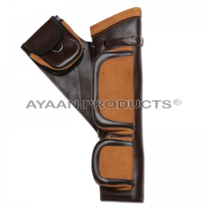 Brown Leather Hip Quiver