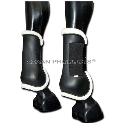 Black Tendon Boot  Moulded Plastic