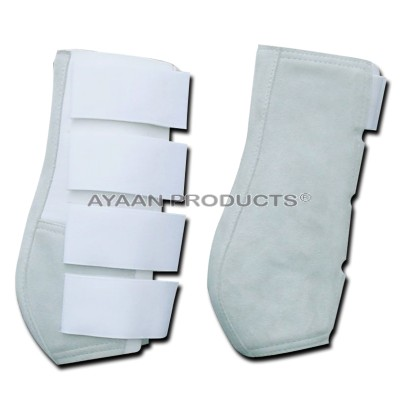 White Suede Leather Medicine Boot