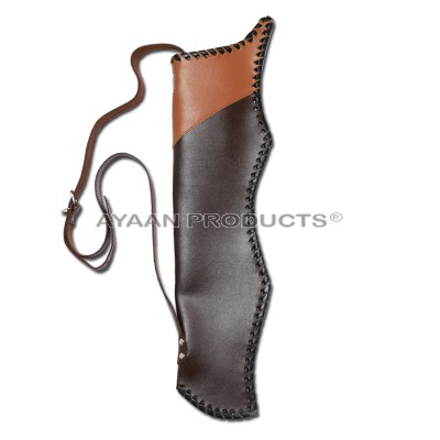 Chocolate Color Leather Back Quiver
