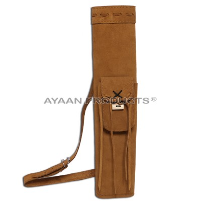 Traditional Suede Shoulder Quiver