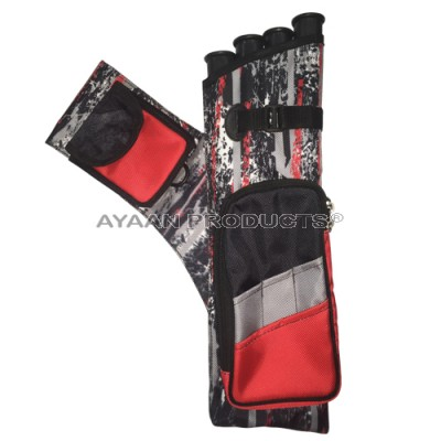 Field Red Black Side Quiver