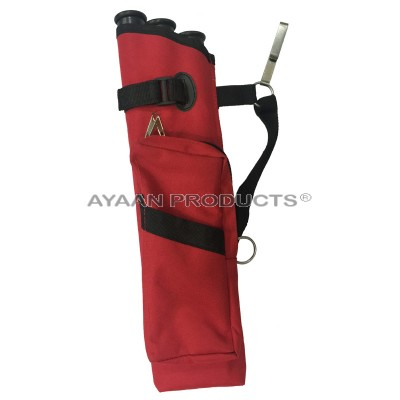 3 Tube Red Hip Quiver