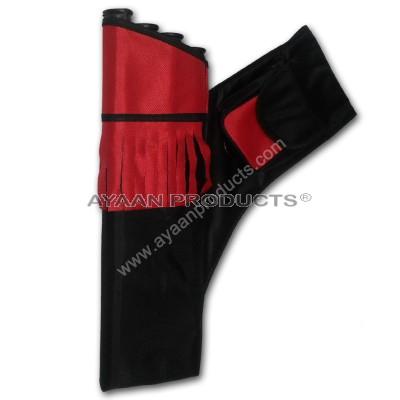 Black Red 4 Tube Side Quiver