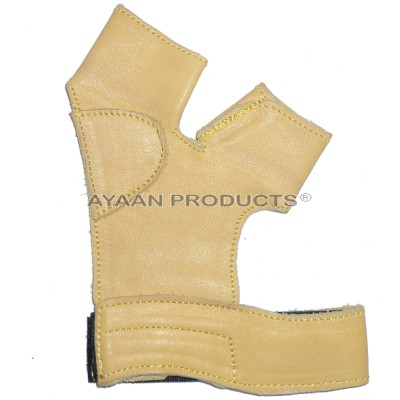 Archery Brown Leather Gloves