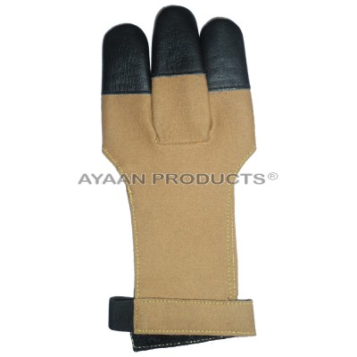 Archery Leather Targeting Gloves